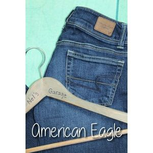 American Eagle Stretch Slim Boot Jeans 00 Short